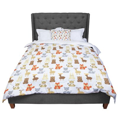 Petit Griffin Retro Animals Comforter Size: Twin