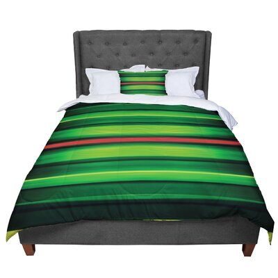 Matthias Hennig Stripes Comforter Size: Queen