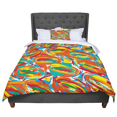 Matthias Hennig Go Left Crazy Comforter Size: King, Color: Red