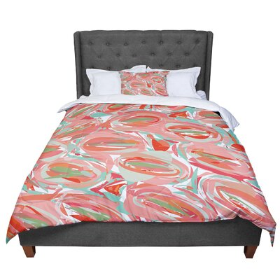 Matthias Hennig Go Left Crazy Comforter Size: Twin, Color: Red