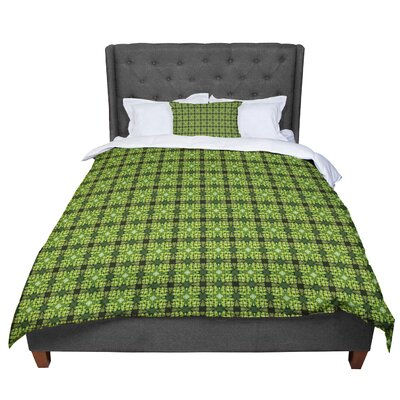 Matthias Hennig Floral Geometric Comforter Size: Twin