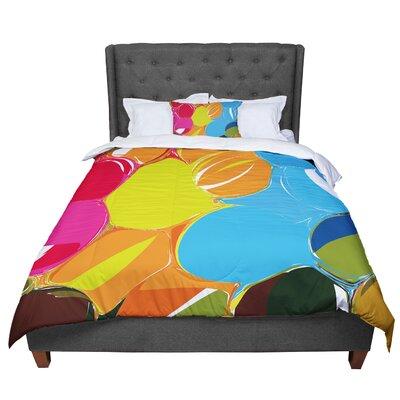 Matthias Hennig Bubbles Rainbow Circles Comforter Size: Twin