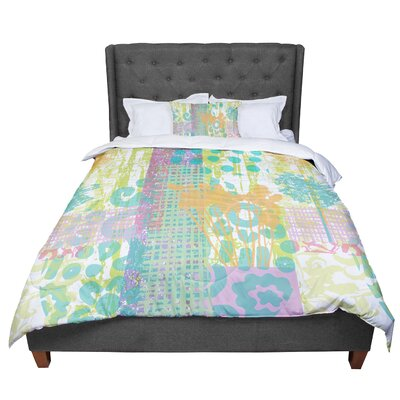 Chickaprint Dazed Pastel Splatter Comforter Size: Queen