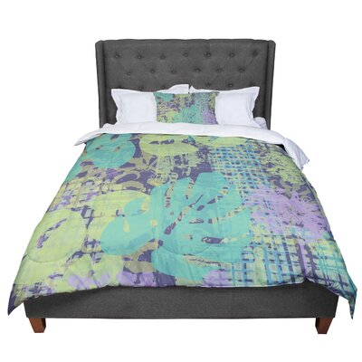 Chickaprint Verdure Collage Comforter Size: Twin