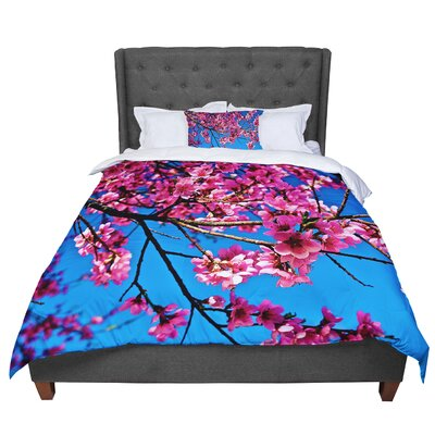 Maynard Logan Flowers Comforter Size: King