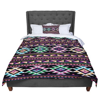 Nika Martinez Aylen Tribal Comforter Size: King, Color: Black/Purple/Orange