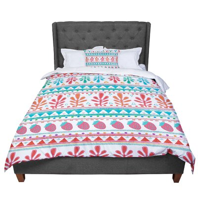 Nika Martinez Spring Strawberries Comforter Size: Queen