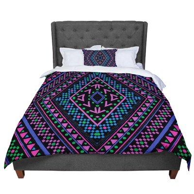 Nika Martinez Neon Pattern Comforter Size: Twin