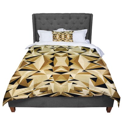 Nika Martinez Abstraction Comforter Size: King, Color: Beige/Brown