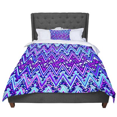 Nika Martinez Electric Chevron Comforter Size: King