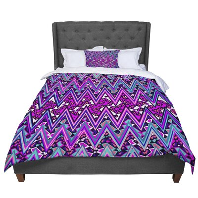 Nika Martinez Electric Chevron Comforter Size: Twin