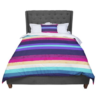 Nika Martinez Surf Stripes Comforter Size: King
