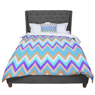 Nika Martinez Girly Surf Chevron Comforter Size: King