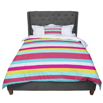 Nika Martinez Girly Surf Stripes Comforter Size: Twin