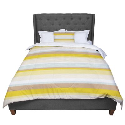 Nika Martinez Desert Stripes Comforter Size: King