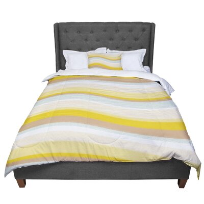 Nika Martinez Desert Waves Comforter Size: Twin