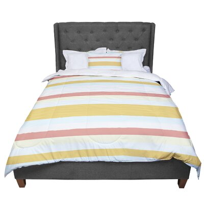 Nika Martinez Sand Stripes Comforter Size: Twin
