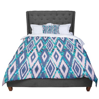 Nika Martinez Tribal Ikat Pattern Comforter Size: Twin