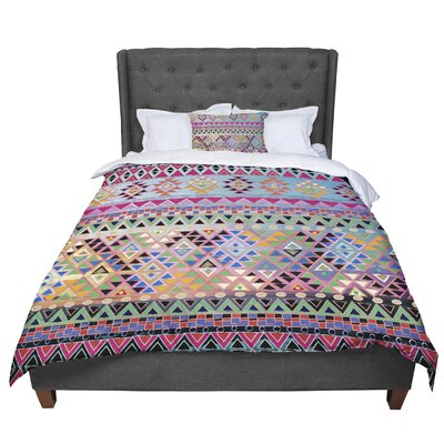 Nika Martinez Tribal Native Comforter Size: Queen, Color: Pink