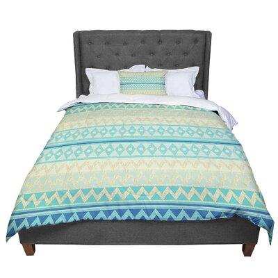 Nika Martinez Glitter Chevron Pattern Comforter Size: Twin