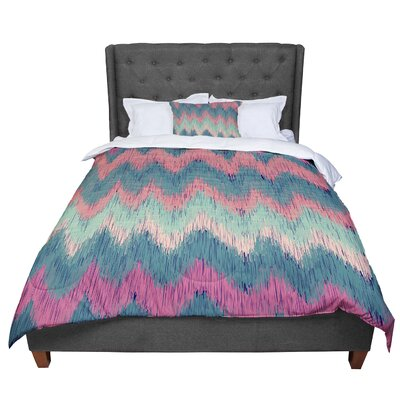 Nika Martinez Ikat Chevron Comforter Size: Twin