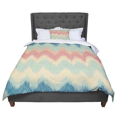 Nika Martinez Ikat Chevron II Comforter Size: Twin