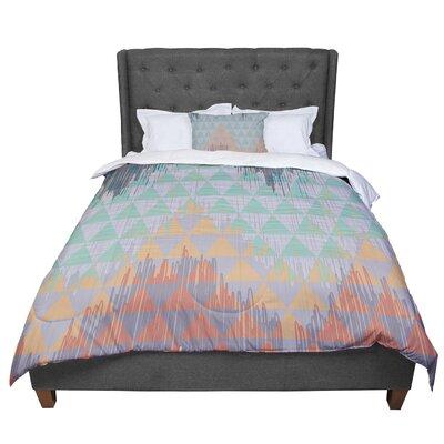 Nika Martinez Ikat Geometrie Comforter Size: Queen
