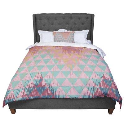 Nika Martinez Ikat Geometrie II Comforter Size: King