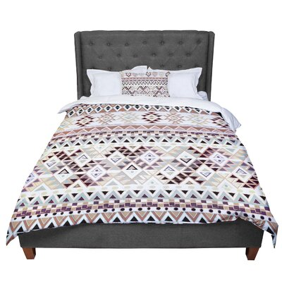 Nika Martinez Tribal Native Comforter Size: Twin, Color: Brown