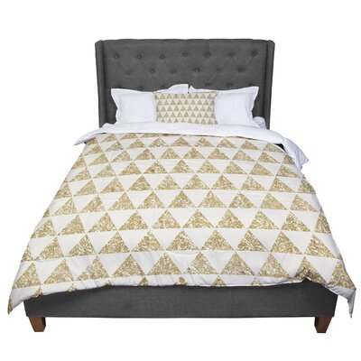 Nika Martinez Glitter Triangles Comforter Size: Queen