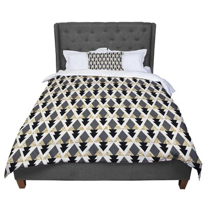 Nika Martinez Glitter Triangles Geometric Comforter Size: Queen