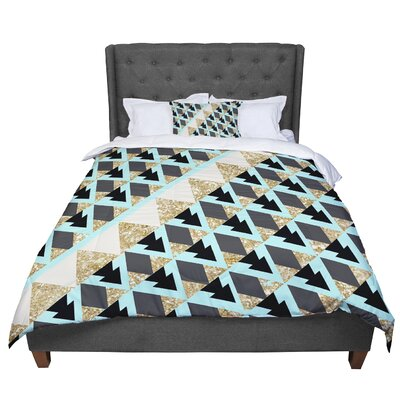 Nika Martinez Glitter Triangles Comforter Size: Twin