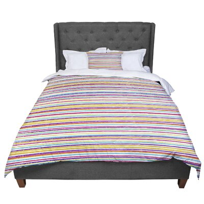 Nika Martinez Summer Stripes Abstract Comforter Size: King