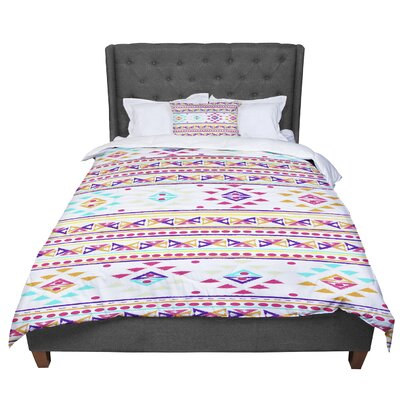 Nika Martinez Aylen Tribal Comforter Size: King, Color: Pink/Purple/Orange
