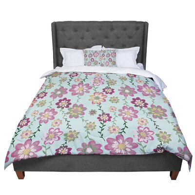 Nika Martinez Romantic Floral Comforter Size: Twin