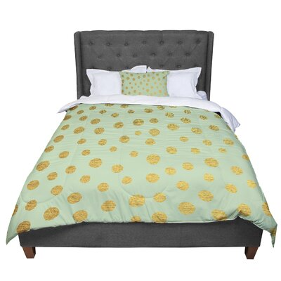 Nika Martinez Dots Comforter Size: Queen, Color: Green