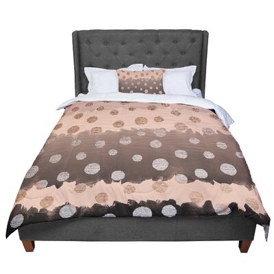 Nika Martinez Earth Dots Comforter Size: Queen