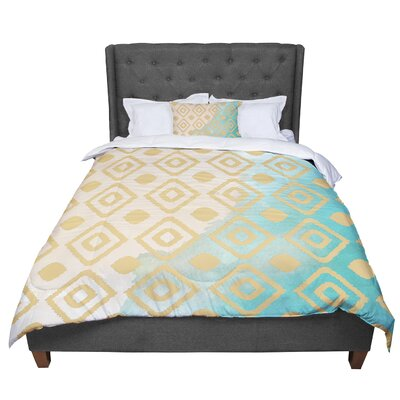 Nika Martinez Watercolor Ikat Comforter Size: Twin