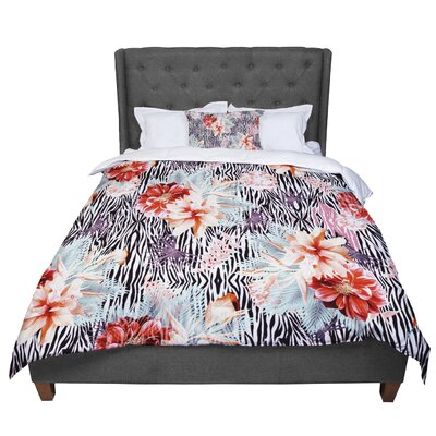 Nika Martinez Tropical Fusion Floral Comforter Size: Twin