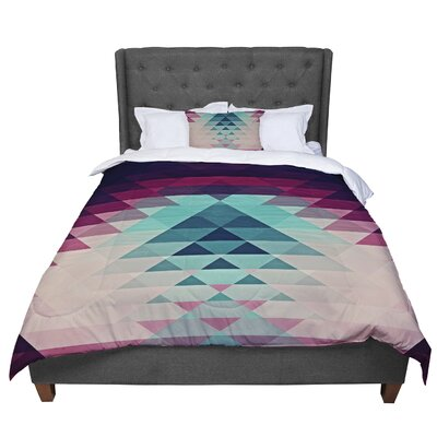 Nika Martinez Hipster Comforter Size: King, Color: Maroon/Teal