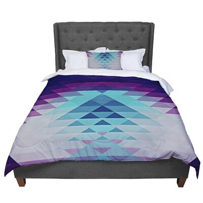 Nika Martinez Hipster Comforter Size: King, Color: Blue/Lavender