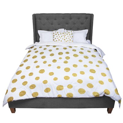 Nika Martinez Dots Comforter Size: Queen, Color: White