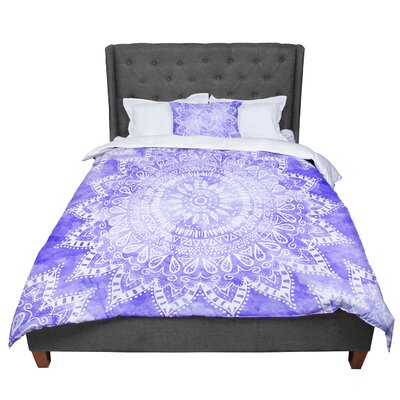 Nika Martinez Boho Flower Mandala Comforter Size: Queen, Color: Purple