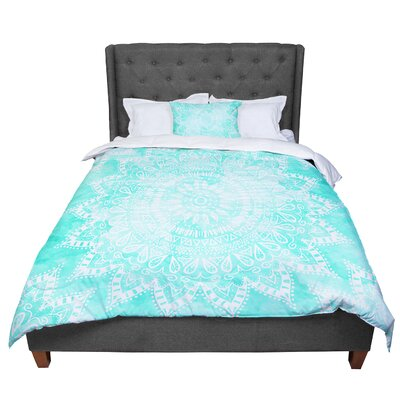 Nika Martinez Boho Flower Mandala Comforter Size: Queen, Color: Teal