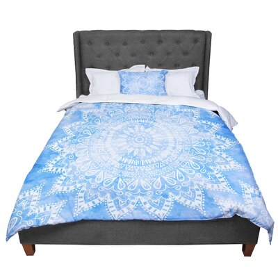 Nika Martinez Boho Flower Mandala Comforter Size: King, Color: Blue