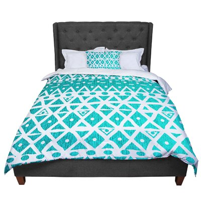 Nika Martinez Aquamarine Tribal Comforter Size: Twin