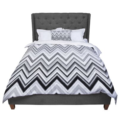 Nika Martinez Seventies Chevron Pattern Comforter Size: King