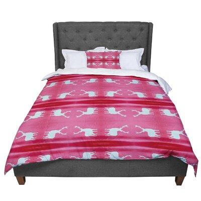 Nika Martinez Deer Tie Die Comforter Size: Queen