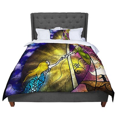 Mandie Manzano Fairy Tale off to Neverland Comforter Size: King