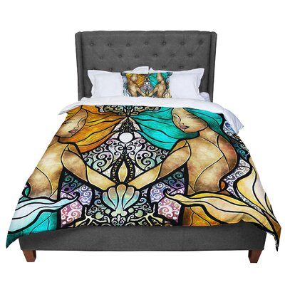 Mandie Manzano Mermaid Twins Comforter Size: Queen